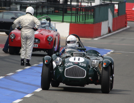 Pits at Silverstone Classic 2008