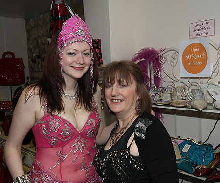 Barbara and Margaret Cairns at Drop Dead Gorgeous (Babs the new Towcester Celeb)