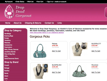Drop Dead Gorgeous Launch new Website