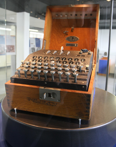 Enigma Machine - this is the one that was stolen and Jeremy Paxman got back