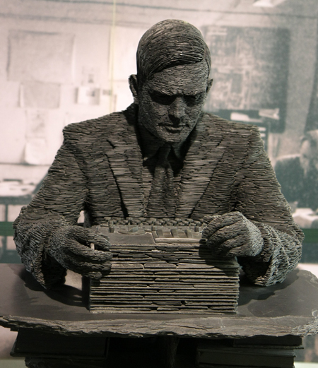 Alan Turing who developed the Turing Bombe