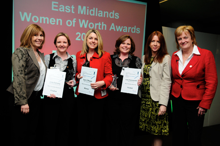 Julia Doherty, director and owner of local recruitment agency Ethos Recruitment, is celebrating after being recognised at the East Midlands Women of Worth Awards this month